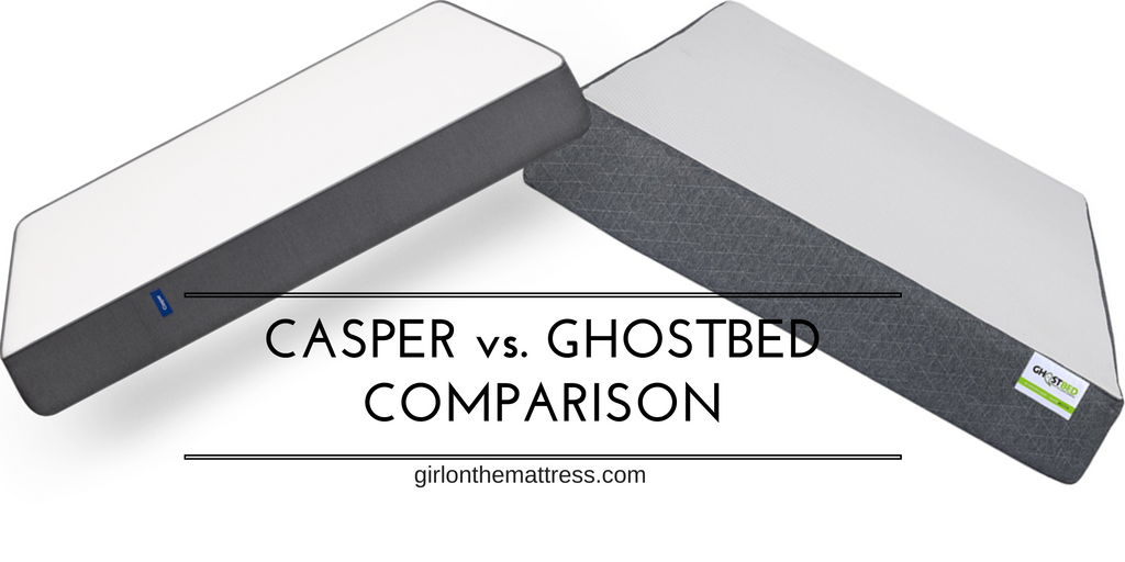 Casper Vs. GhostBed Mattress Comparison Review, ghostbed-vs-casper, casper-vs-ghostbed, casper-mattress-or-ghostbed, comparison, girl-on-the-mattress