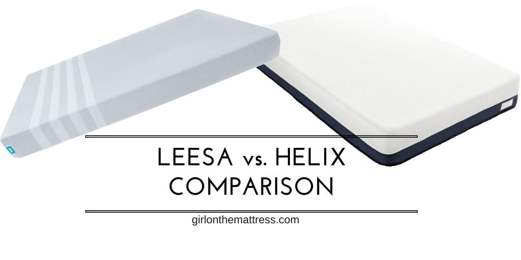 Leesa vs Helix Mattress Comparison Review