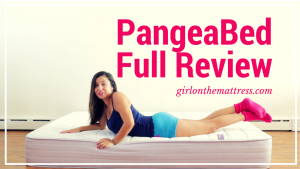 pangeabed copper mattress unboxing, pangeabed-mattress-review, classic-copper, girl-on-the-mattress, pangea bed review