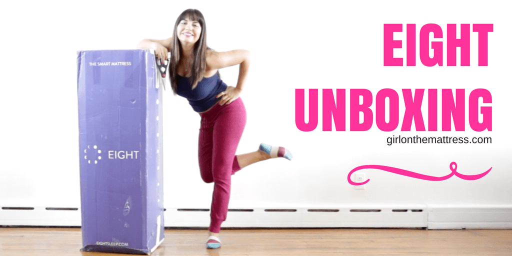 Eight smart mattress unboxing, Eight Mattress Unboxing, Eight Sleep Unboxing, Eight Sleep Unboxing Review, Girl on the Mattress
