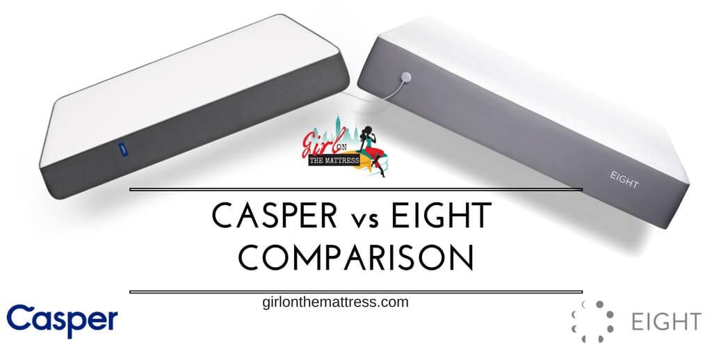 Casper vs Eight, Casper vs Eight Sleep, Casper vs Eight mattress, Eight Smart Mattress, Casper mattress, girl on the mattress