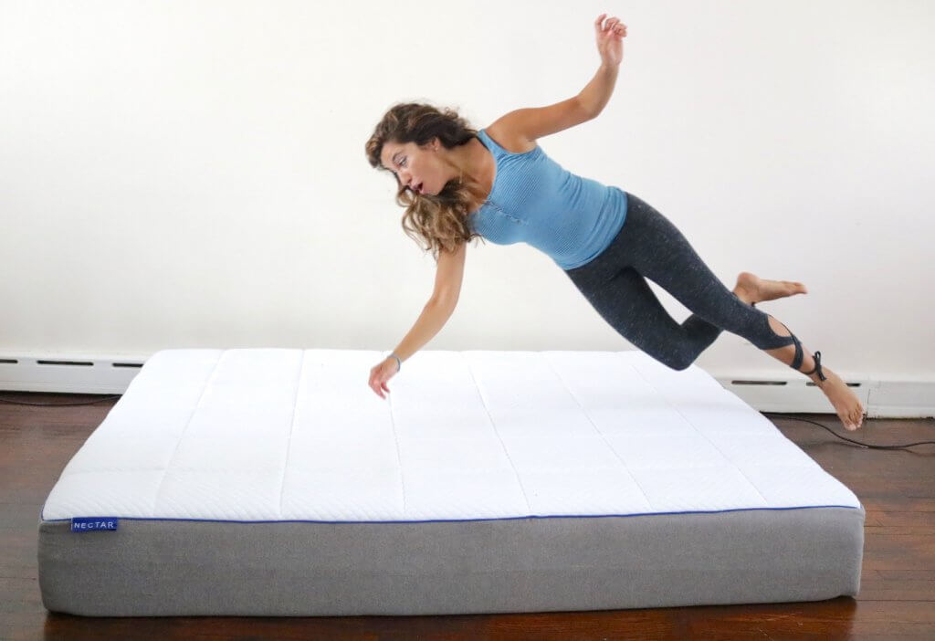 nectar mattress, nectar mattress review, girl on the mattress