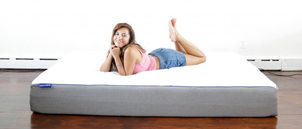 nectar, nectar mattress review, nectar mattress, girl on the mattress