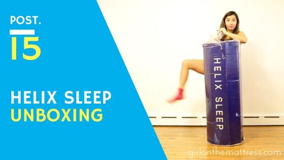 Helix Mattress Unboxing