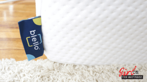 Blello Mattress review, blello mattress, blello, mattress in a box, girl on the mattress
