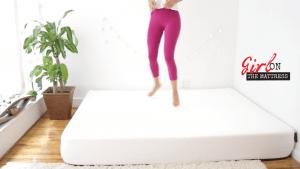 eight mars mattress review, eight sleep reviews, eight mars mattress reviews, girl on the mattress 4