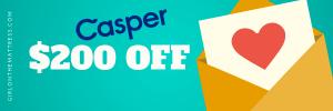 Casper Mattress Discount, Casper Discount, Casper Coupon, Casper Deals, Casper Discount Code, Casper Discounts, Casper Coupon Codes, Girl On The Mattress, Mattress Coupons, Casper mattress discount code